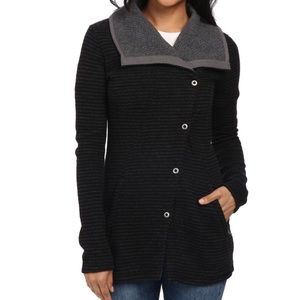 prAna Milana Wool Button Up Sweater, Size L